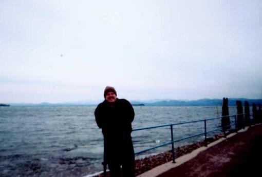 Gary on the shores of Lake Champlain in Burlington, Vt.